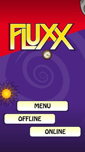 La schermata iniziale di Fluxx per iPhone e iPad