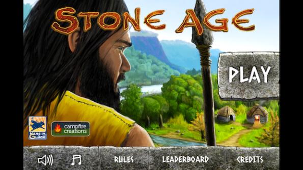 Schermata iniziale di Stone Age per iPhone e iPad