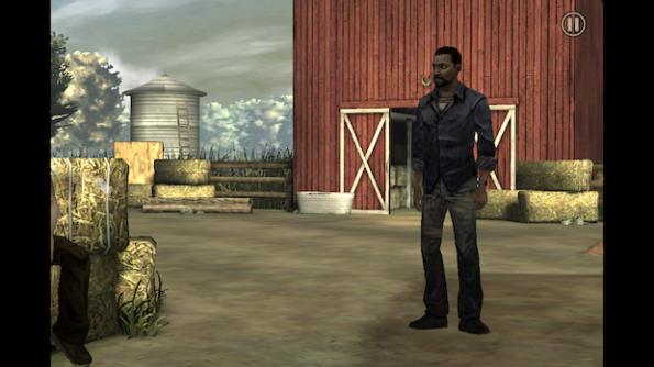 Uno dei rari momenti in cui The Walking Dead è luminoso e tranquillo