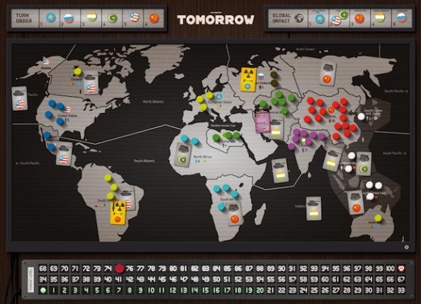 Il board di Tomorrow, un gioco che appare molto interessante