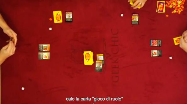 Una fase di gioco a Chez Geek durante la diciottesima puntata di Table Top