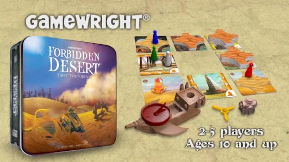 La scatola e il contenuto di Forbidden Desert