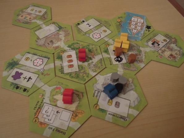 Un villaggio verso la fine di una partita