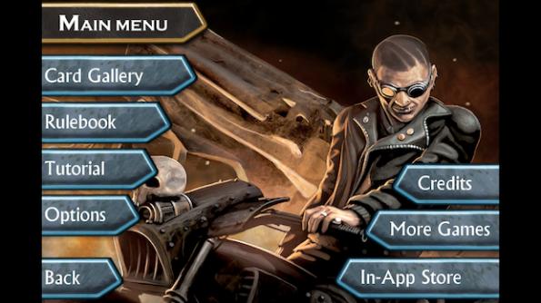 La pagina iniziale di Nightfall offre tutte le opzioni possibili nel gioco
