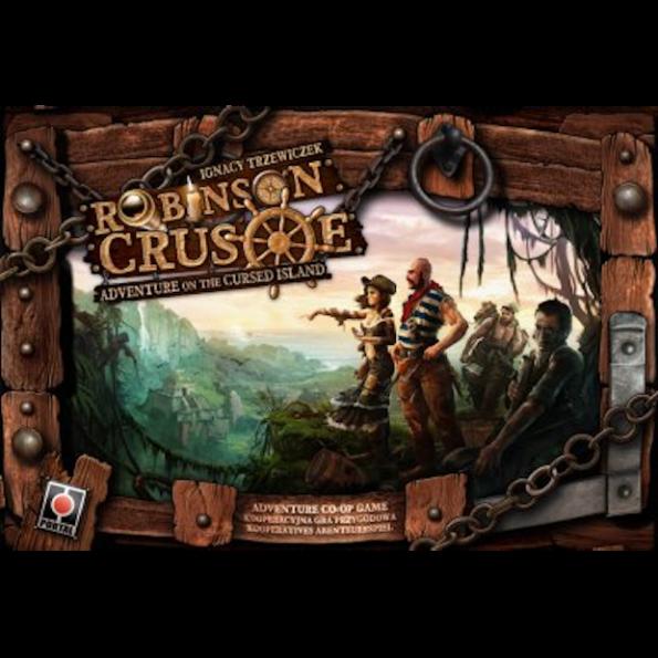 La scatola dell'edizione inglese di Robinson Crusoe
