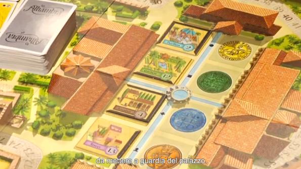 Un close up del board di Alhambra durante la puntata numero 17 di Table Top