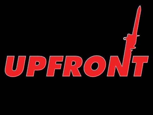 Il logo di Up Front il gioco di carte della Seconda Guerra Mondiale