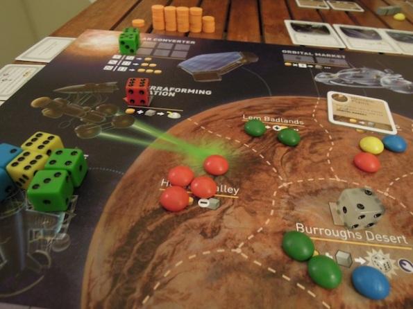 Uno scorcio del board di Alien Frontiers