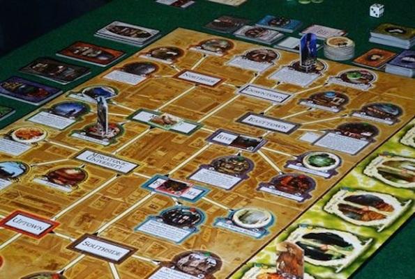 Uno scorcio del board di Arkham Horror