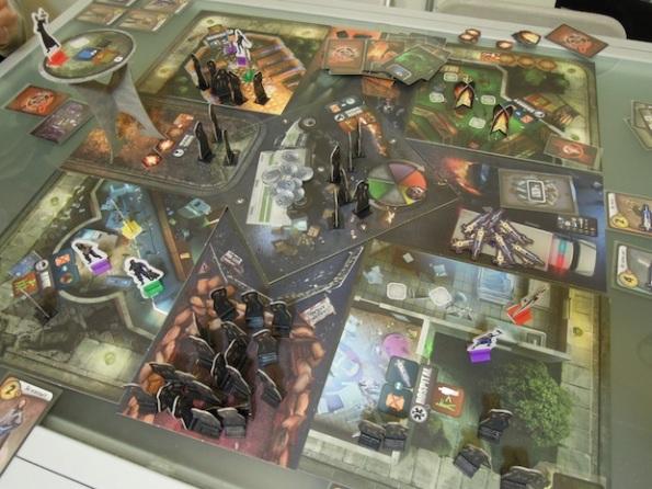 Il board di City of Horror durante la partita