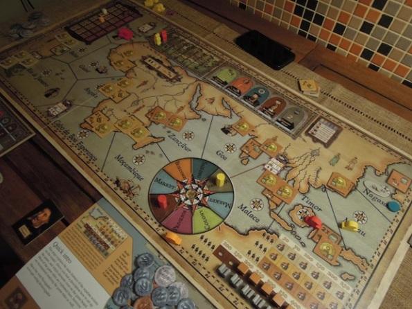 Il board di Navegador in una partita a due giocatori