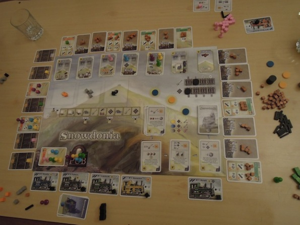 Il board di Snowdonia nelle fasi iniziali della partita