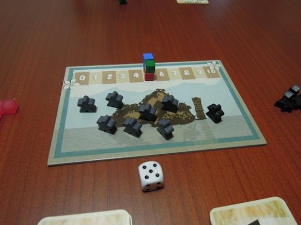 L'isola di Kalua come si presenta all'inizio di una partita a quattro giocatori