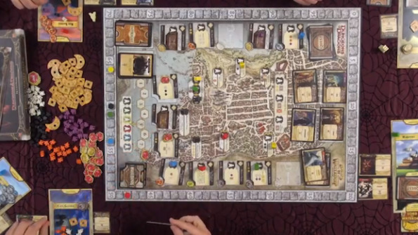 Un momento della puntata di Game Night dedicata a Lords of Waterdeep