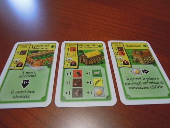 Alcuni esempi di carte edificio