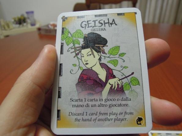 La carta Geisha serve a togliere carte dal gioco