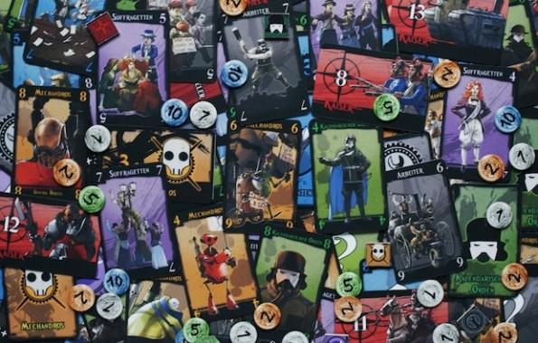 Le carte di Steam Noir: Revolution sono disegnate molto bene