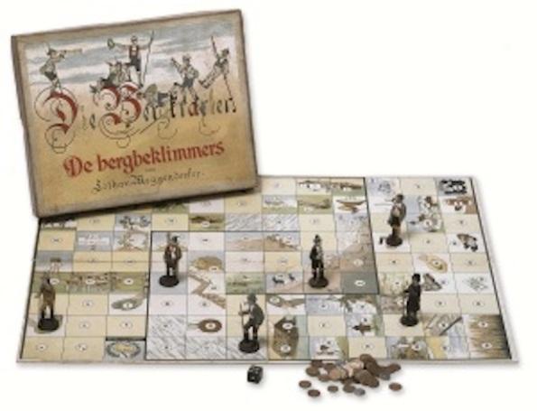 """Uno dei 550 giochi da tavolo della mostra """"Alpinisti e turisti per gioco"""""""