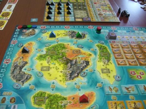 La zona centrale del board di Bora Bora