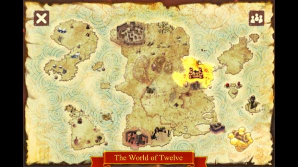 La mappa delle location di Dofus nelle quali dovremo batterci