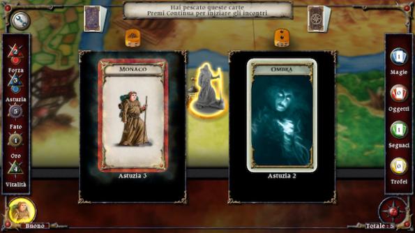 Una fase di combattimento durante una delle missioni di Talisman Prologue HD per iPhone