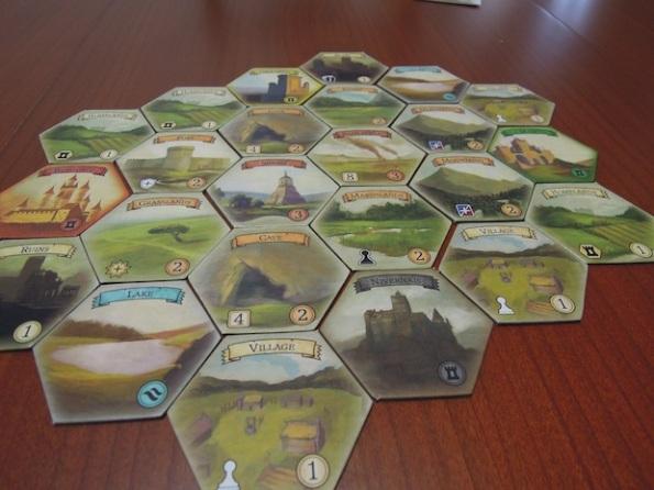 Il board di Medieval Mastery per una partita da quattro giocatori