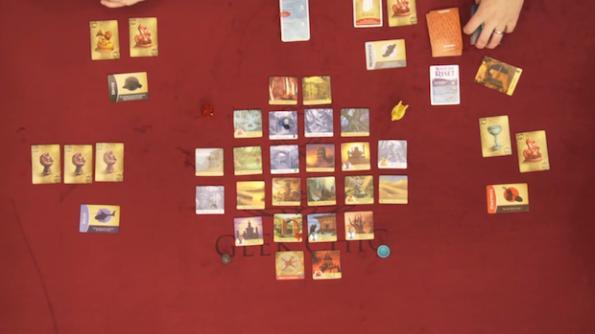 """Una fase di gioco durante la puntata di Table Top dedicata a """"L'Isola Proibita"""""""