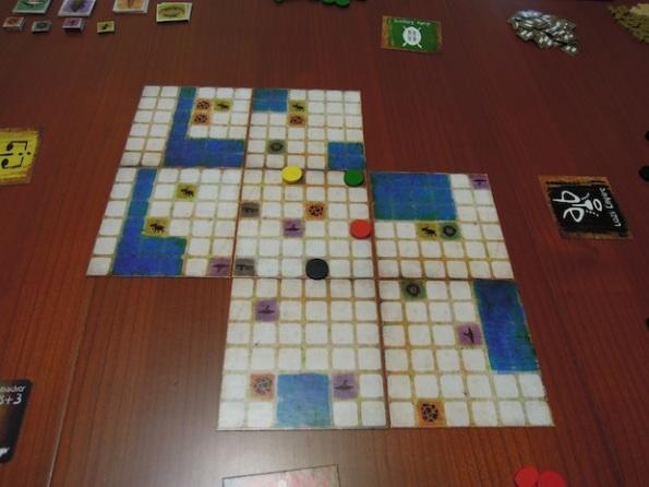 Il board per una partita a quattro giocatori di The Great Zimbabwe