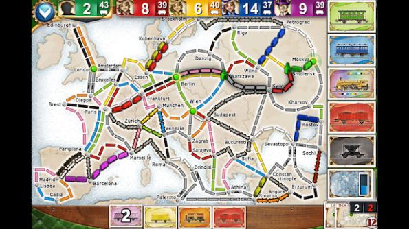 Ticket To Ride Europe è stato digitalizzato in maniera perfetta per iPhone e iPad