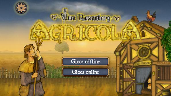 La home page di Agricola in versione iPhone e iPad