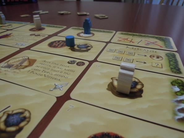 Targi è un gioco molto strategico e nulla va lasciato al caso