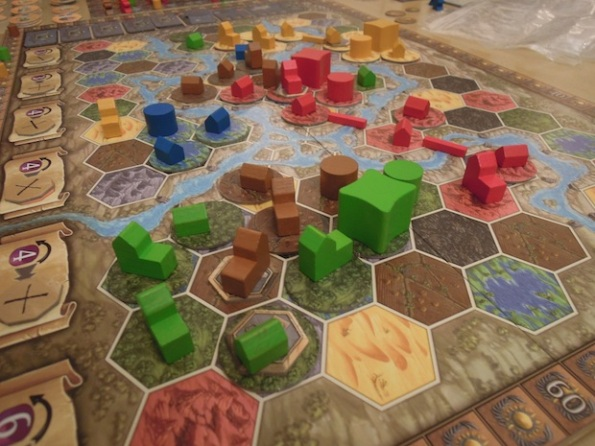 Una fase di gioco a Terra Mystica