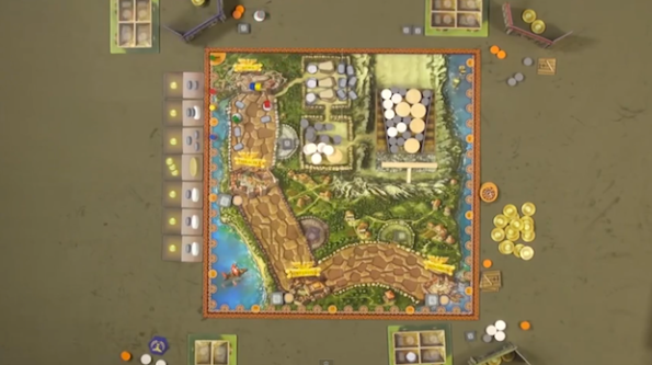 Una fase di gioco della partita a Via Appia che si è tenuta durante Game Night