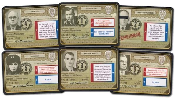 Alcune carte agente segreto di Cold War: CIA vs KGB
