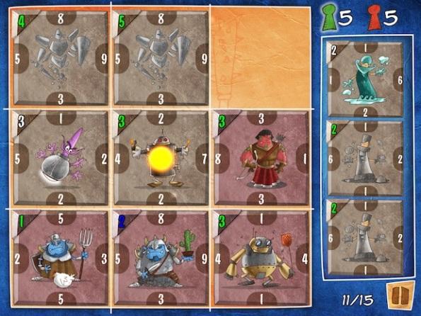 Il board di Ka-Boom durante una partita molto combattuta