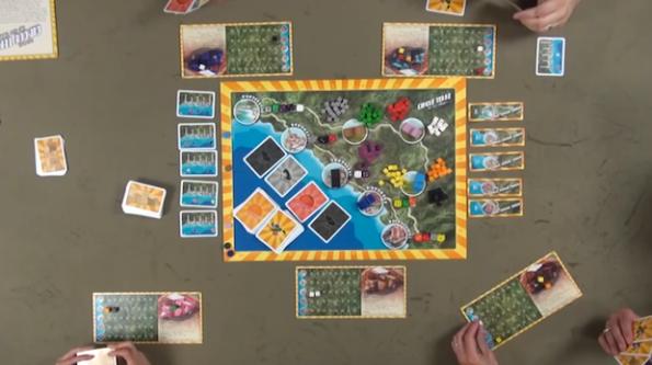 Una fase di gioco a Cinque Terre