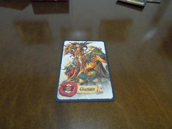 Il giullare è una delle carte personaggio disponibili all'interno di Mascarade
