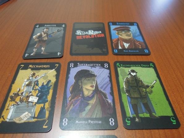 Alcune delle carte di Steam Noir: Revolution