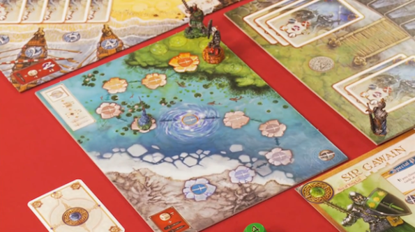 Un particolare del board di Shadows Over Camelot