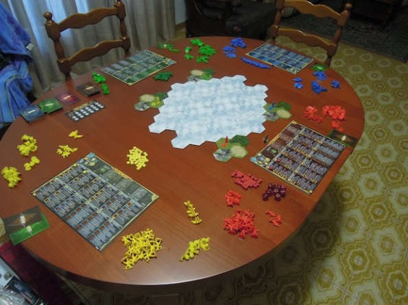 Per giocare a Clash of Cultures c'è bisogno di un tavolo grande
