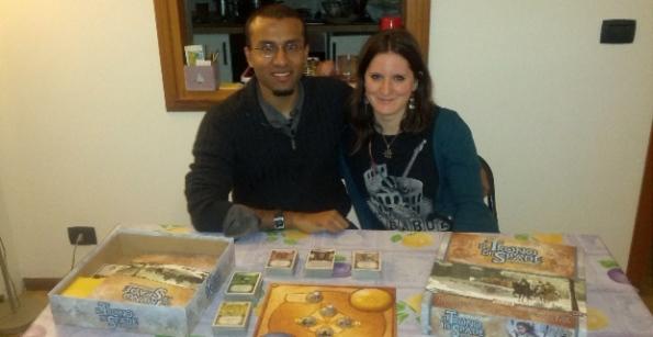 Anthony e Samantha con l'LCG del Trono di Spade
