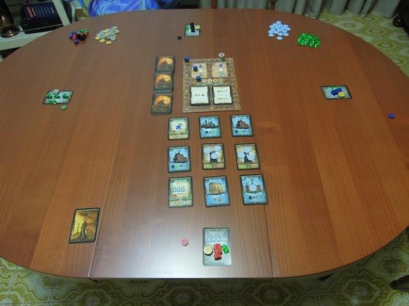 Setup di una partita a quattro persone di Spyrium