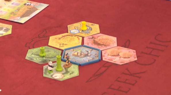 Le fasi iniziali della partita a Takenoko