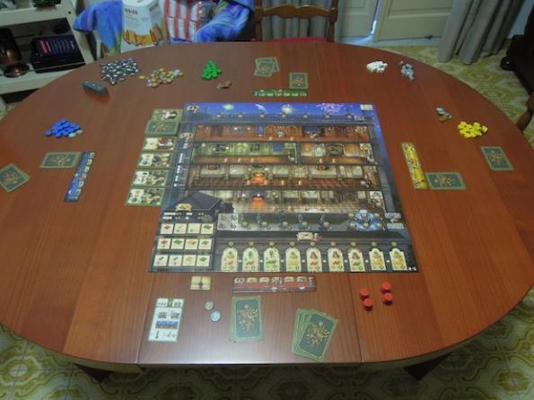 Setup di una partita a Rokoko con quattro giocatori