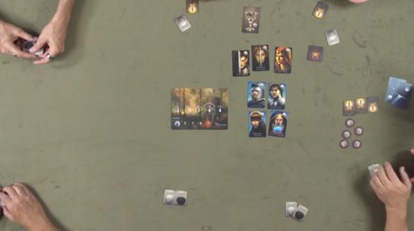 Una fase di gioco a The Resistance: Avalon