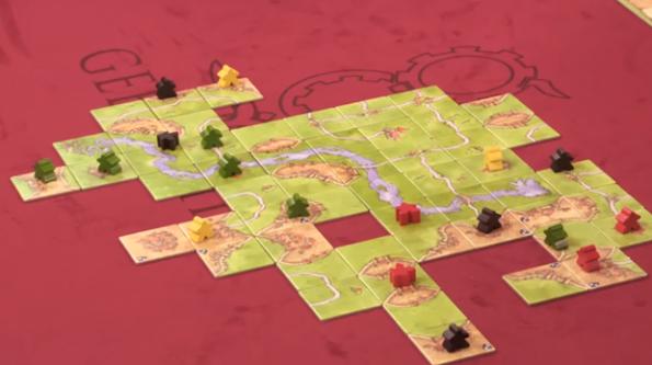 Una fase di gioco di Carcassonne