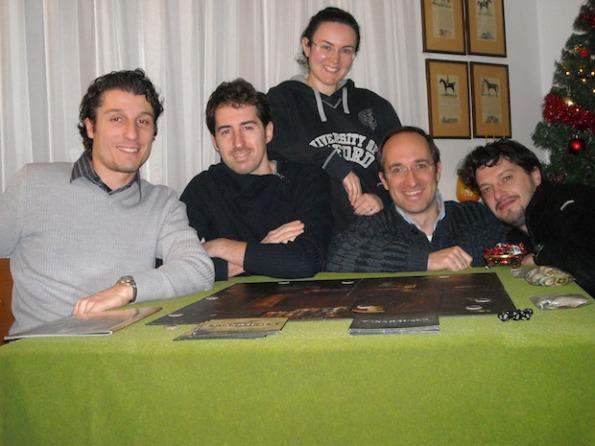 Marco Grazioli ed il suo gruppo di gioco