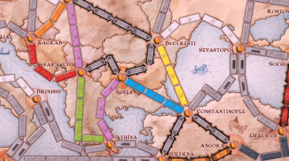 Il board di Ticket to Ride Europe