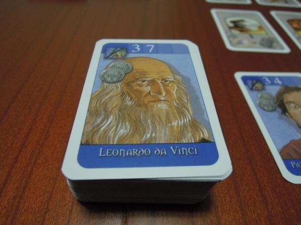 Leonardo Da Vinci è solo uno dei tanti artisti che potremo assoldare in Florenza Card Game