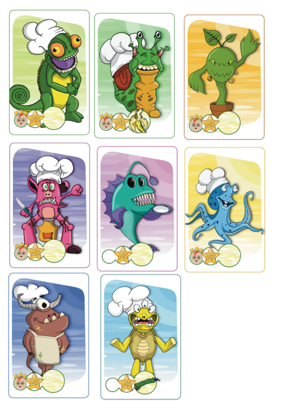 Alcune carte di Monster Chef